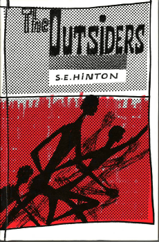 The original 1965 cover art for The Outsiders.