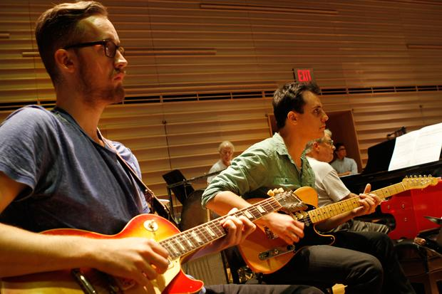 Guitarists from the Brooklyn Philharmonic.