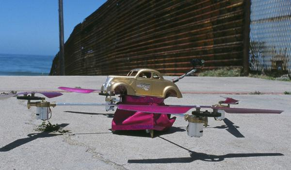 Filmmaker Alex Rivera and his collaborator Angel Nevarez designed the LowDrone, a device that melds the functionality of the drone with the style of a Low Rider.
