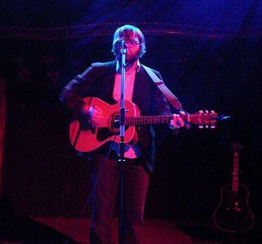 Ben Gibbard playing at a tsunami benefit relief concert in 2005