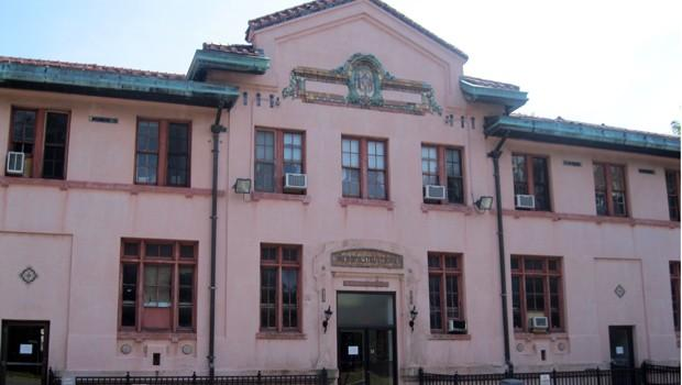 The former administration building at Seaview where Matteo has his office.