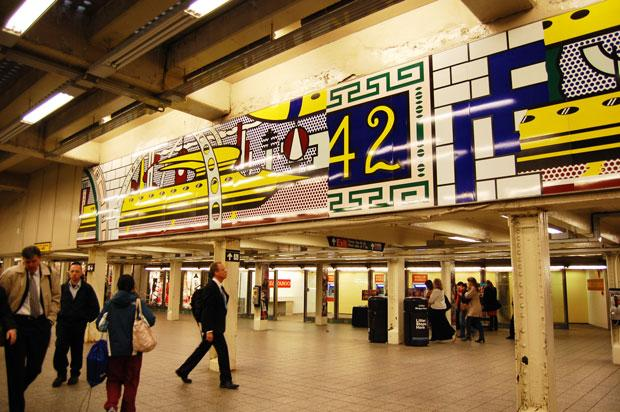 'Times Square Mural ' (2002) by Roy Lichtenstein, Times Square–42nd Street Station.