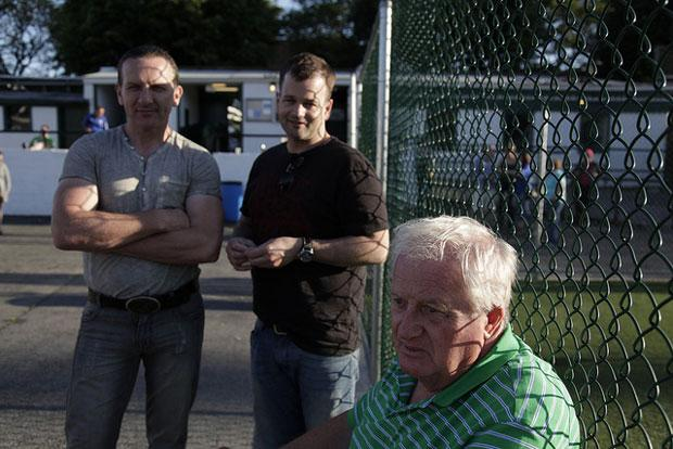 John Riordan, right, has been a fixture at Gaelic Park for over forty years.