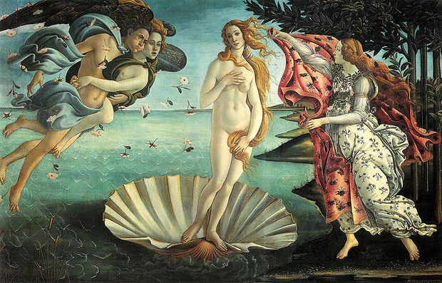 Botticelli's La nascita di Venere