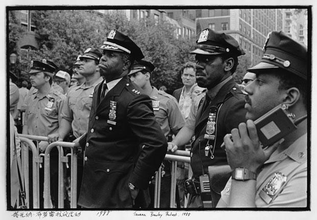 A 1989 shot at a Tawana Brawley protest in 1988.