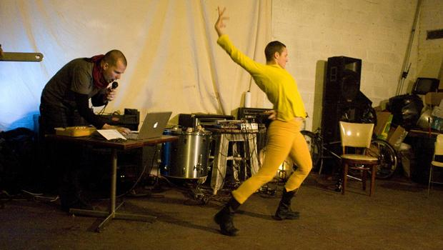 Alessandro Bosetti and Asimina Chremos performed at West Nile in Williamsburg on February 8.