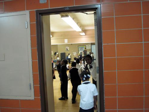 I.S. 217 lost its dance classes to budget cuts, so it gave the mirrored dance room to South Bronx Classical.