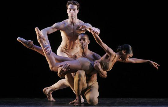 Gonzalo Garcia, Craig Hall, and Aesha Ash in <em>Fools' Paradise</em> by Morphoses