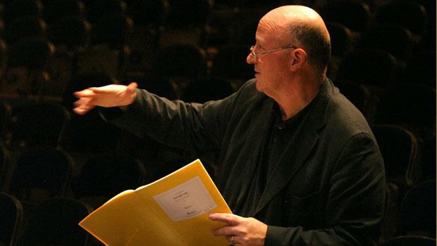 Rehearsing London Sinfonietta, Royal Festival Hall in From Egil's Saga (2004)
