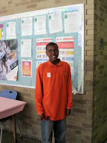 Sixth grader Kyle Broomes. This school has a longer day than regular public schools.