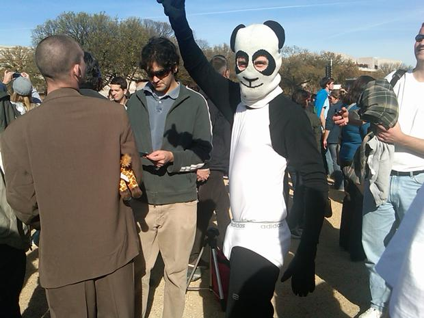 Attendees of Saturday's 'Rally for Sanity' on the Mall in Washington, DC.