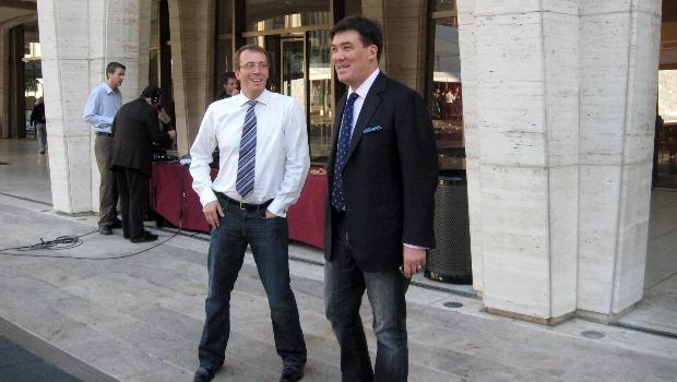 Graham Parker and Alan Gilbert survey the scene