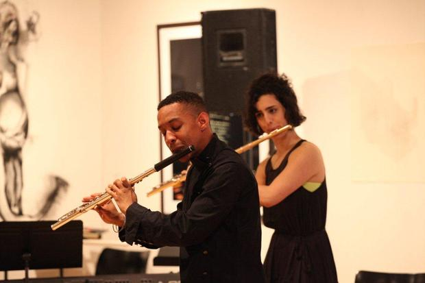 Flutists Eric Lamb and Alex Sopp