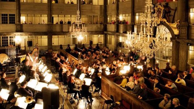 Gavin Bryars conducting Jesus' Blood in Christianskerke, Copenhagen, with Copenhagen Philharmonic