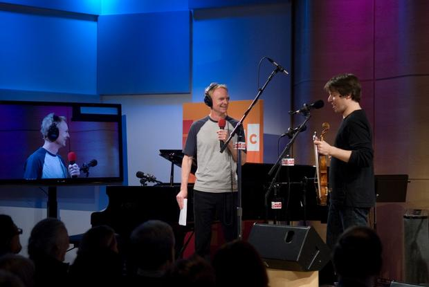 Joshua Bell with John Schaefer on Soundcheck in The Greene Space