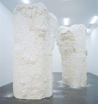 Untitled (Chocolate Mountains), 2006. Styrofoam, fiberglass, and white chocolate icing, 141 3/4 x 70 7/8 in. The Dakis Joannou Collection, Athens