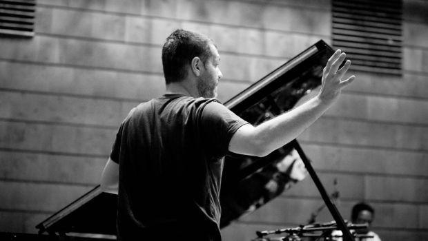Lucian Ban in rehearsal