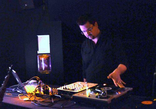 Turntablist Matthew Wright performs opening night