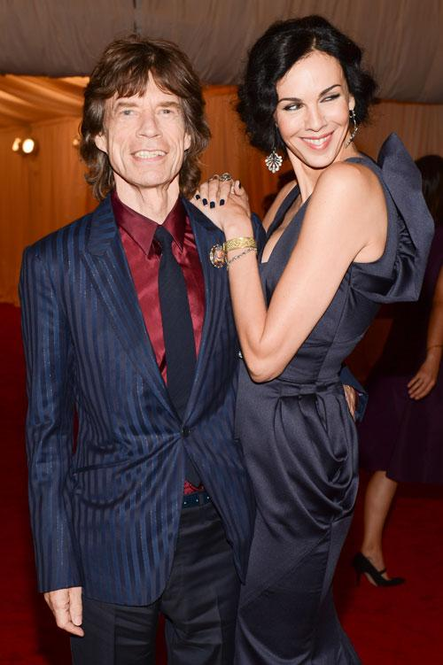 Mick Jagger, of The Rolling Stones, and fashion designer L'Wren Scott also attended the gala.