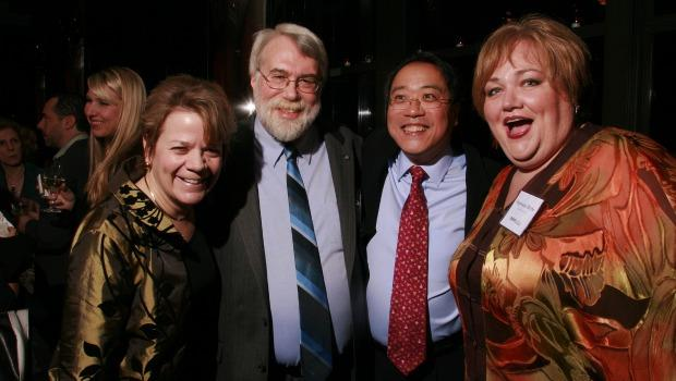 (From left) 2009 Musical America award winners Marin Alsop, Conductor of the Year, Christopher Rouse, Composer of the Year, Yo-Yo Ma, Musician of the Year, and Stephanie Blythe, Vocalist of the Year.