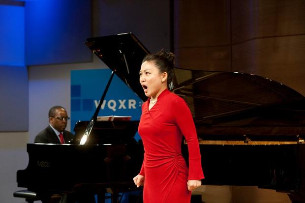 Kathleen Kim at the preview of John Adams's Nixon in China in The Greene Space