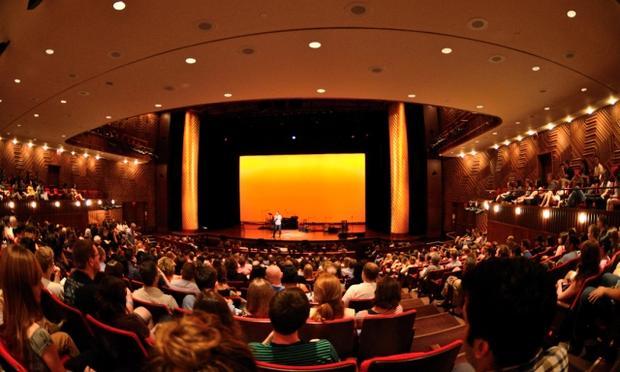 Audience at Curious Sounds concert at NYU Skirball Center
