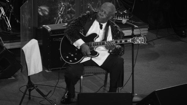 B.B. King performed at the United Palace Theater in Washington Heights on February 12.