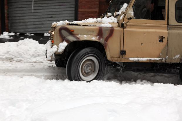 Snowy streets in SoHo on Janurary 27, 2011
