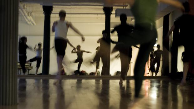 Here, dancers are taking advantage of the ample space at Dance New Amsterdam's current home.