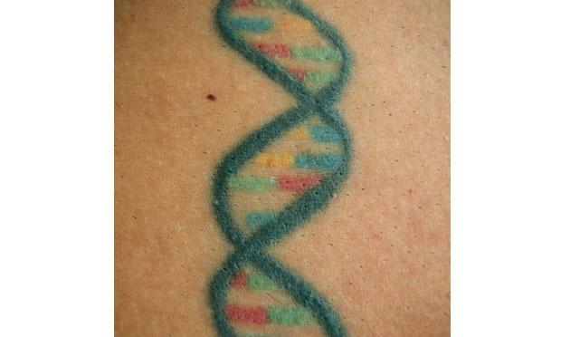 This tattoo inspired Zimmer's book Science Ink.