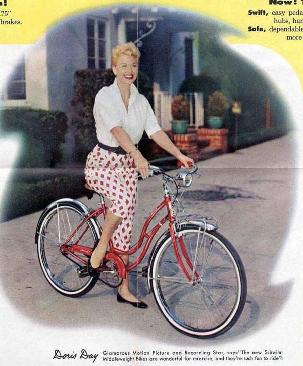 Who wouldn't buy a Schwinn with Doris Day modeling it?
