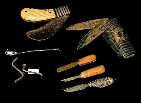 Files, knives, and picklocks created by patients