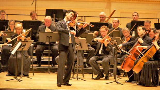 Ryu Goto and the Orpheus Chamber Orchestra in Carnegie Hall.