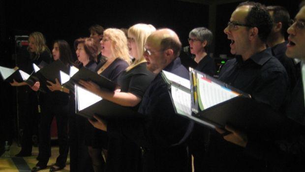 Dessoff Choir Singers Rehearse