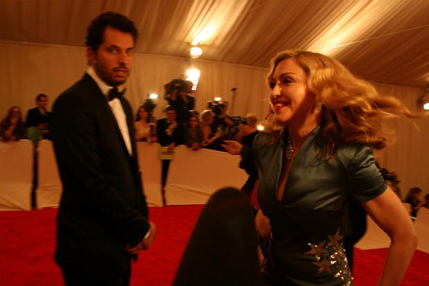 Madonna was the last one to arrive at the gala.