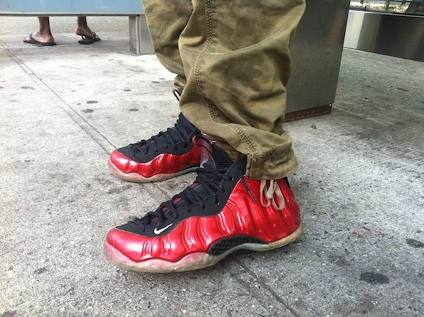 Mike Boyd, 21 years old from the Bronx, and his Nike Foams.