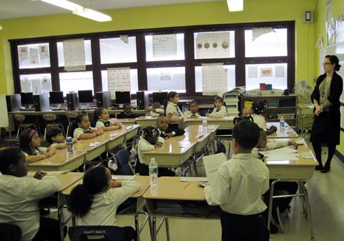 Students at South Bronx Classical must wear their uniforms or they can get detention.