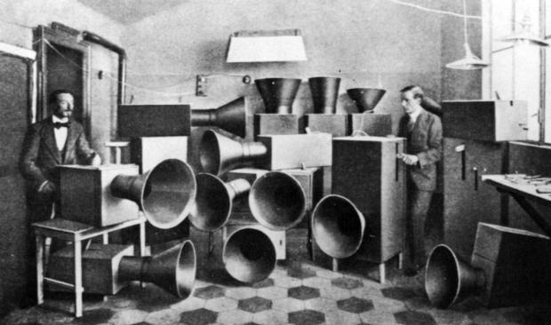 Luigi Russolo's (1885-1947) Intonarumori Noise Machines