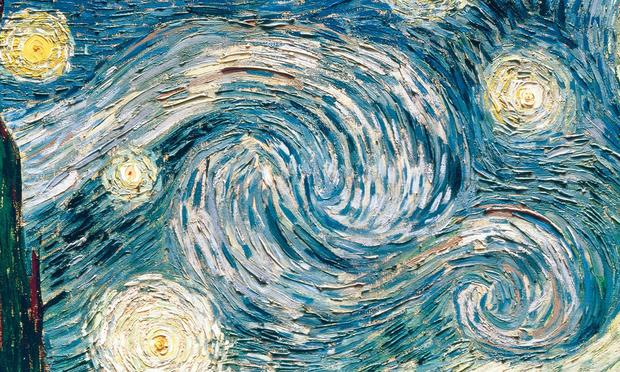 Starry Night by Vincint Van Gogh, 1889