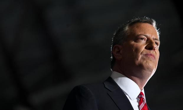 Bill de Blasio on election night, Nov. 5,  2013