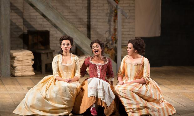 Isabel Leonard as Dorabella, Danielle de Niese as Despina, and Susanna Phillips as Fiordiligi in Mozart's 'Così fan tutte.'