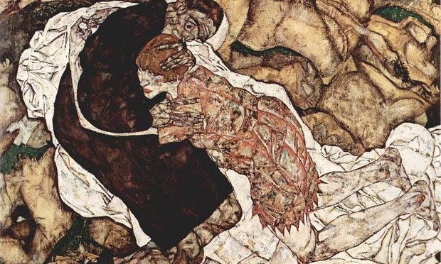 Egon Schiele's painting, 'Death and the Maiden,' is in the Galerie Belvedere collection in Vienna.
