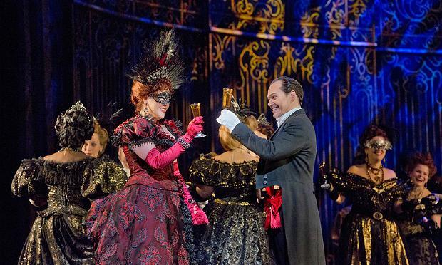 Susanna Phillips as Rosalinde and Christopher Maltman as Eisenstein in Act 2 of Johann Strauss, Jr.'s 'Die Fledermaus.'