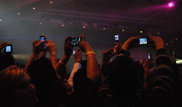 Smartphones at the concert