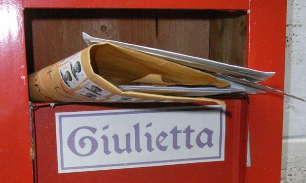 A letterbox at the Club di Giulietta