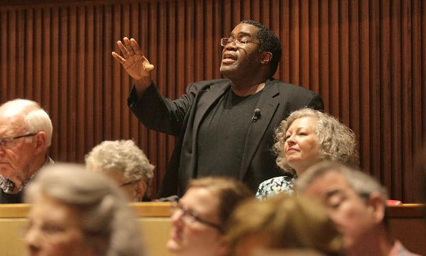 Bass-baritone Eric Owens gives a masterclass at Juilliard