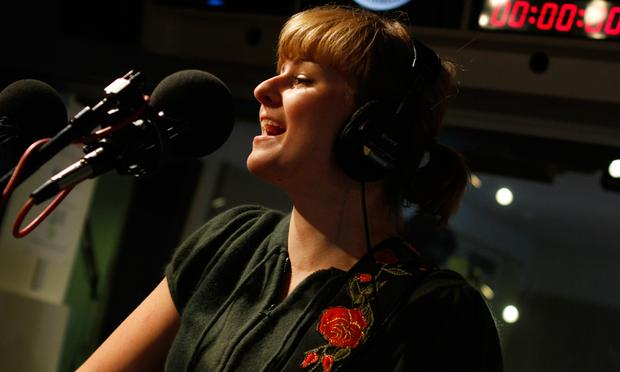Jenn Grant performs in the Soundcheck studio.