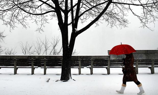 Snowy day in New York City