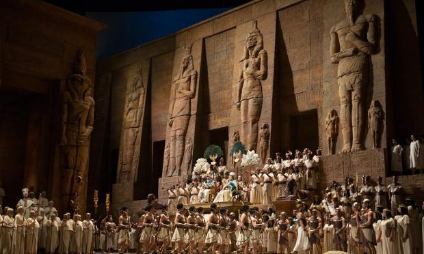 A scene from Verdi's 'Aida'
