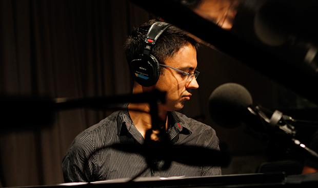 Jazz pianist Vijay Iyer performs in the Soundcheck studio.